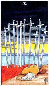 Десятка мечей: что значит аркан