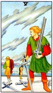 Пятерка мечей: что значит аркан
