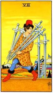 Семерка мечей: что значит аркан