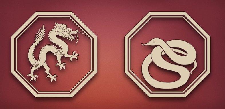 Дракон и Змея совместимость в любви, браке и постели