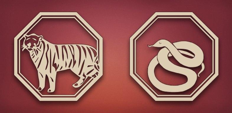 Тигр и Змея совместимость в любви, браке и постели