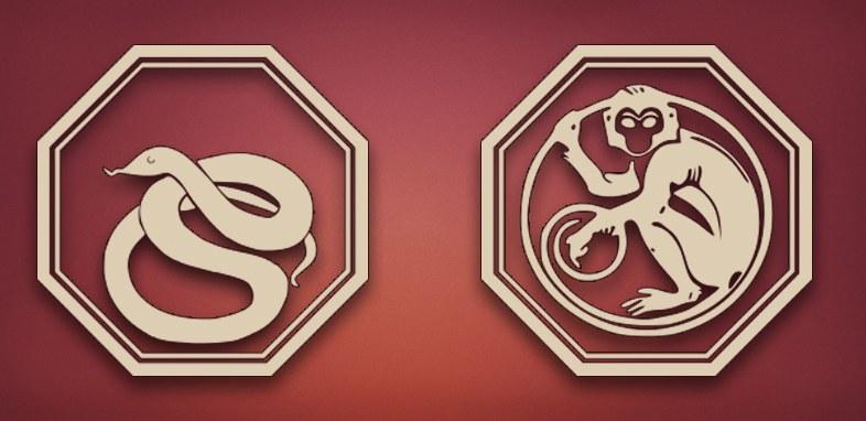 Змея и Обезьяна совместимость в любви, браке и постели